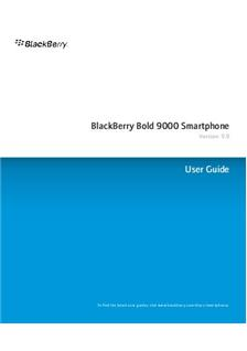 Blackberry Bold 9000 manual