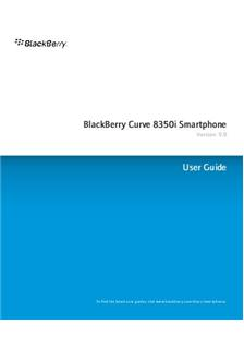 Blackberry Curve 8350i manual
