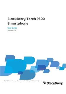 Blackberry Torch 9800 manual