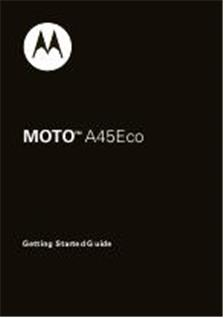 Motorola A45 ECO manual