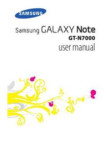 Samsung Galaxy Note manual