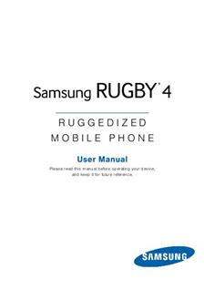Samsung Rugby 4 manual
