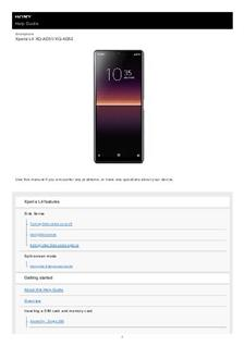 Sony Xperia L4 manual